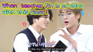 [RUN BTS 112] When teacher Jin is so done with this class !