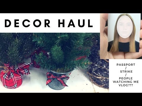 CHRISTMAS DECOR HAUL + PASSPORT PHOTOS + COLLEGE STRIKE | VLOG