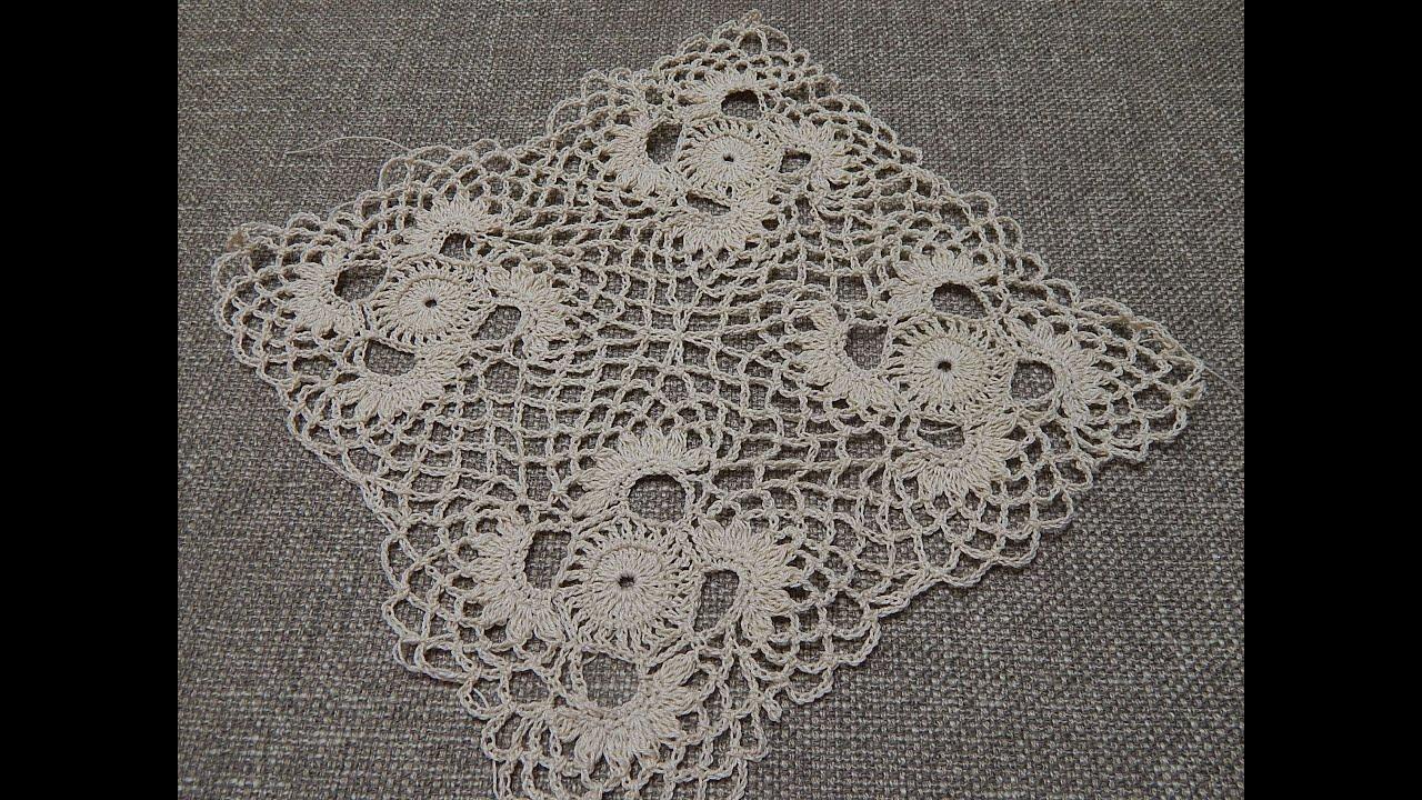 Cuadro Crochet para Mantel  YouTube