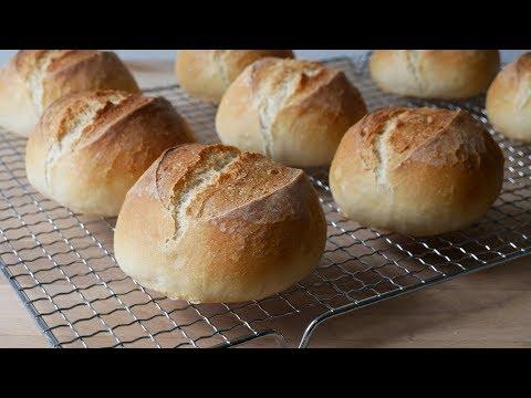 Brötchen Backen (Rezept)    Baking German Bread Rolls (Recipe)    [ENG SUBS]