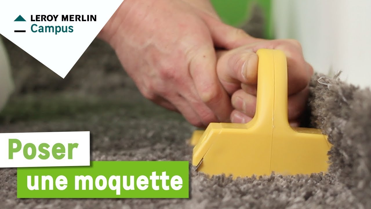 Comment poser une moquette leroy merlin youtube for Moquette leroy merlin