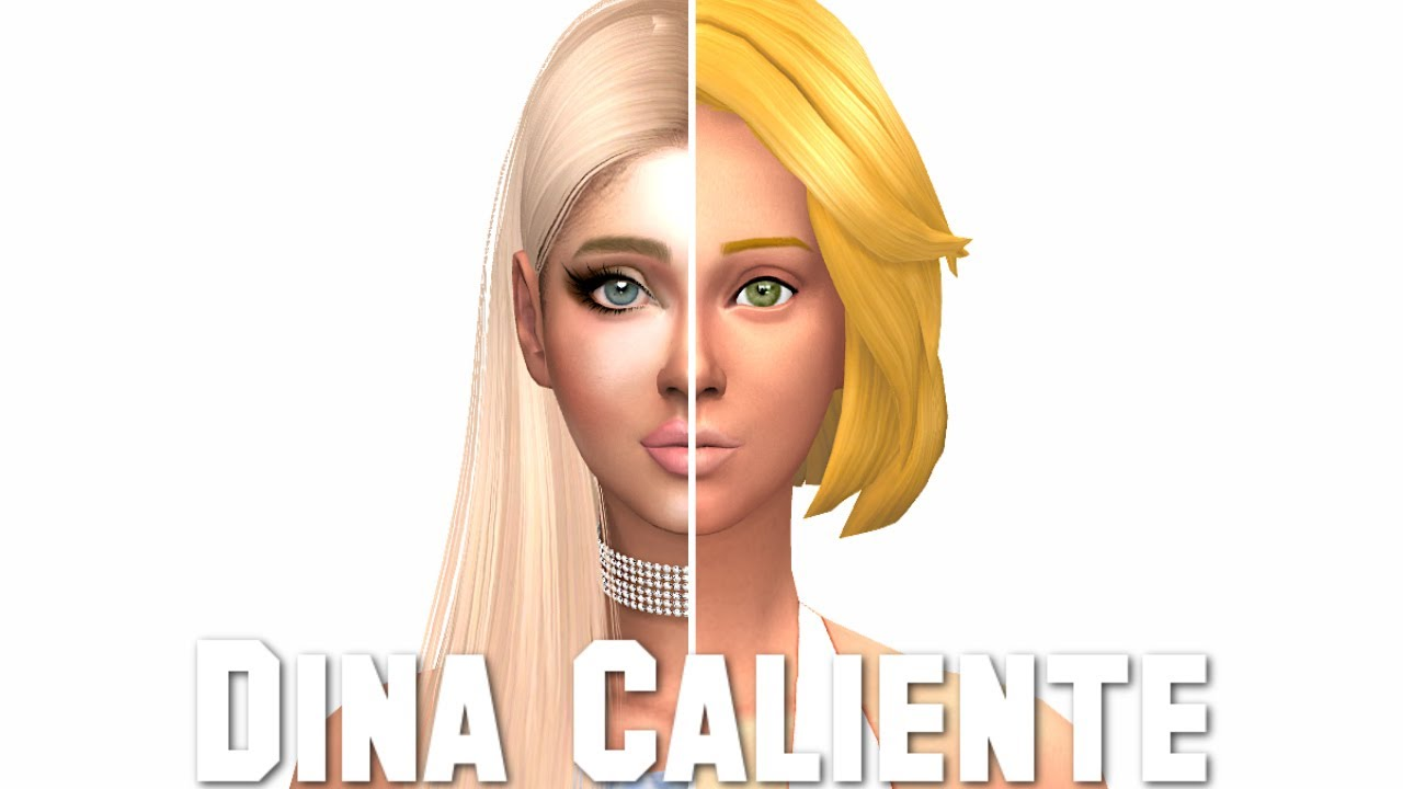 The Sims 4: GLO UP | DINA CALIENTE + FULL CC LIST & SIM DOWNLOAD! by  DazzlingSimmer