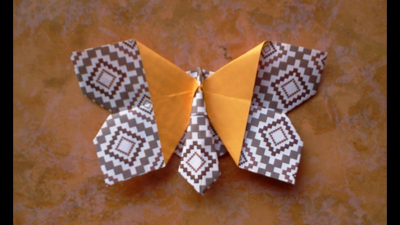 cara membuat origami kupu kupu youtube