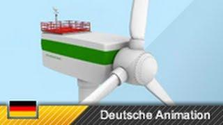 Windkraftanlage - Aufbau und Funktion (3D-Animation)