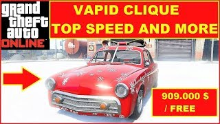 GTA 5 Online new Car Vapid Clique Top Speed and Laptime Test , fastest Muscle Cars