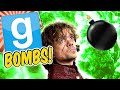 Gmod Bombs - Game Of Thrones Explosives (Garry's Mod Sandbox Funny Moments)