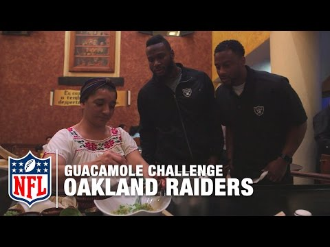 Raiders EPIC Mexico City Guacamole Challenge! | NFL