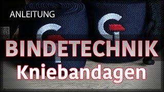 Anleitung Arten der Wickeltechniken - Knie-Bandagen richtig wickeln - G.TEC KneeWraps thumbnail