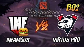 Infamous Gaming vs Virtus Pro ► The International Dota 2 2019 ( TI9 Day 3 ) 😎 | dota 2