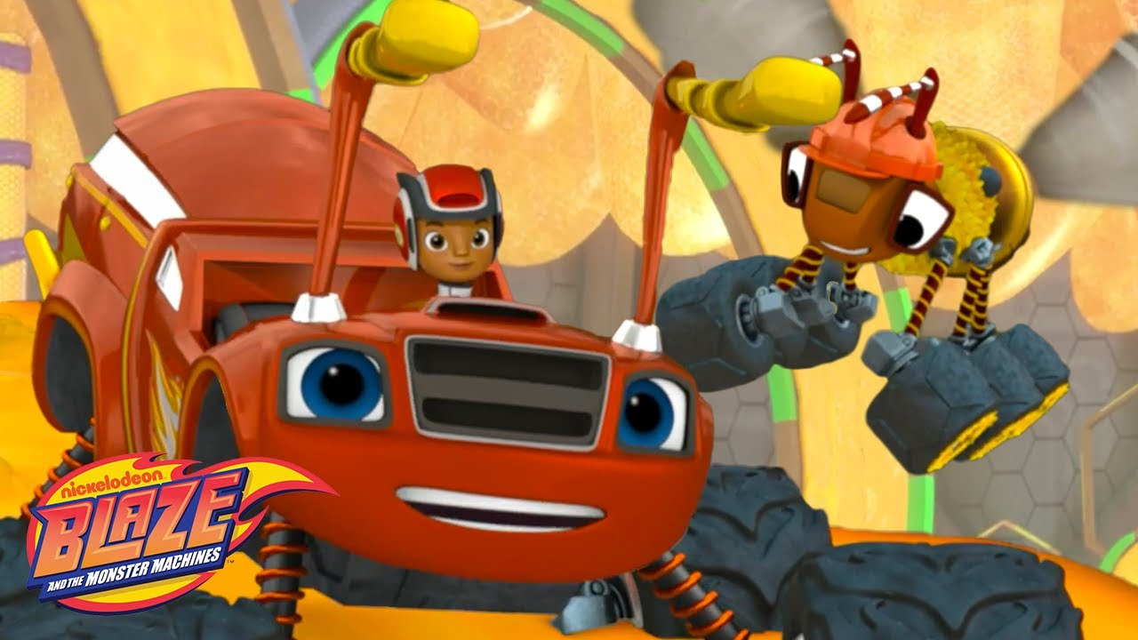 Insect Blaze Flips Down A Slide! | Blaze and the Monster Machines