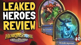 LEAKED HEROES REVIEW Tips amp Tricks  Battlegrounds  Hearthstone