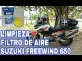 Cómo Limpiar Filtro de Aire -  Suzuki Freewind 650