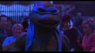 TMNT 2 (1991) Club fight scene + Ninja Rap!!.flv