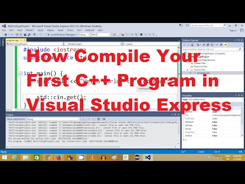 How To Compile Your First C++ Program in Visual Studio