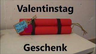 DIY: Bombe für Valentinstag basteln als Geschenk / Für Mann oder Frau / Last Minute Geschenkidee