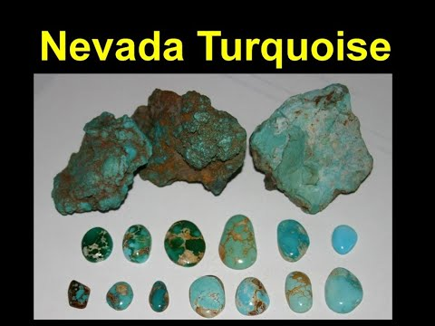 Nevada_turquoise beautiful blues and greens plus its relation to Nevada gold