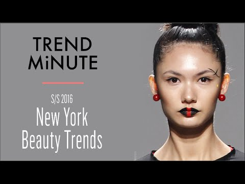 Trend Minute: New York S/S 16 – Beauty Trends