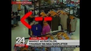 Mahigit 40 pantalon, tinangay ng mga shoplifter