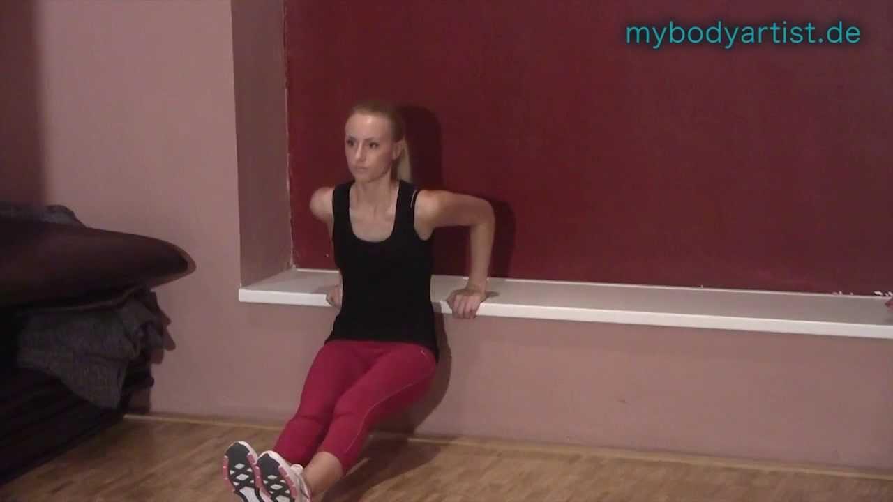 Trizeps zu Hause trainieren mit Dips