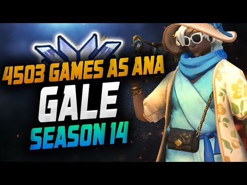 4503 GAMES AS ANA - GALE! [ OVERWATCH SEASON 14 TOP 500 ] thumbnail