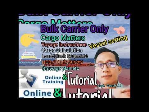 Cargo Matter for Bulk Carrier Type of Vessel