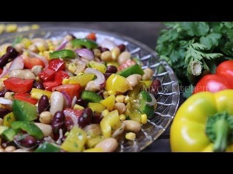 Healthy Mexican Bean Salad Recipe   Mix Beans Salad
