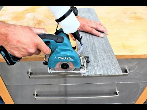 makita cordless 12v tile saw unboxing test review