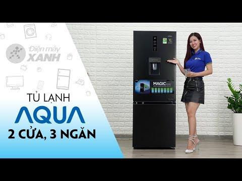 Tủ lạnh Aqua: 2 cửa, 3 ngăn, có đông mềm và lấy nước ngoài (AQR-IW338EB) | Điện máy XANH