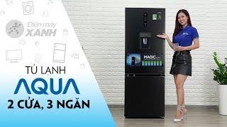 Tủ lạnh Aqua: 2 cửa, 3 ngăn, có đông mềm và lấy nước ngoài (AQR-IW338EB)   Điện máy XANH