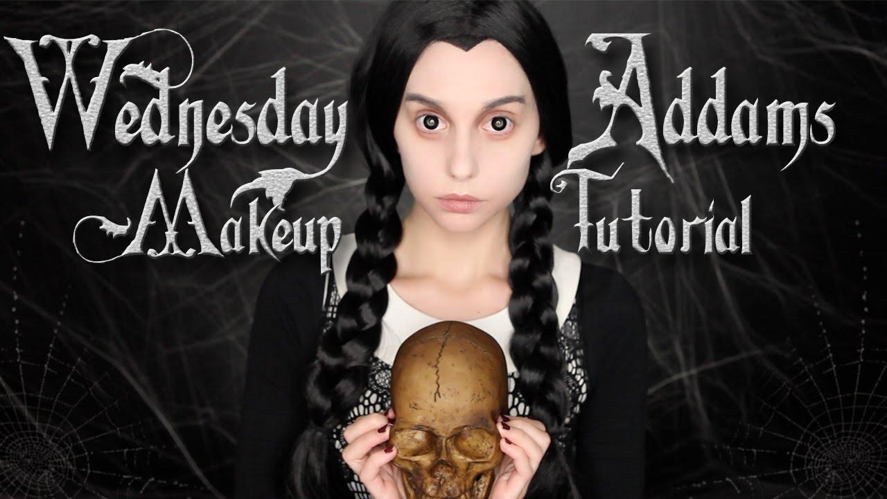Wednesday addams makeup tutorial halloween 2015 youtube baditri Choice Image