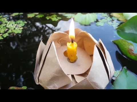 ทำกระทง จากกระดาษรักษ์โลก / Simple and Easy to make Lotus Flower