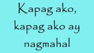 Repeat youtube video Kapag ako ay nagmahal - Jolina Magdangal w/ LYRICS HIGH QUALITY