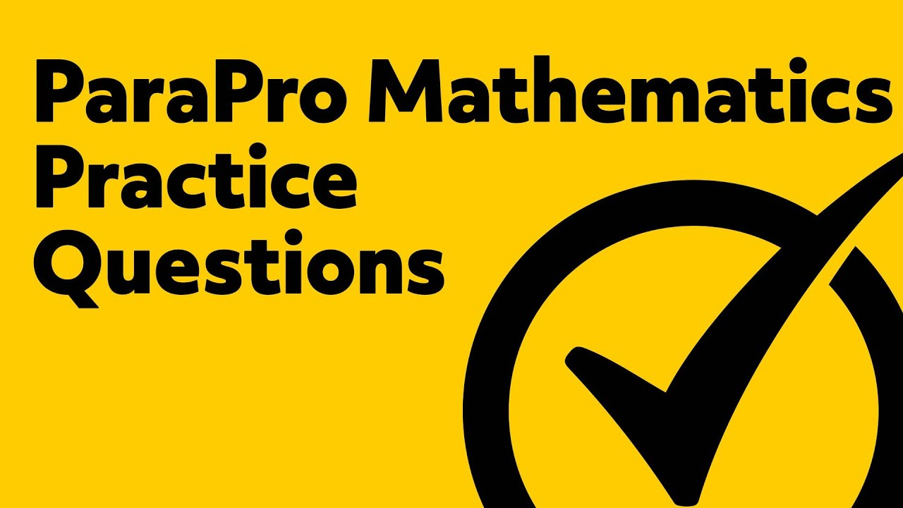 Free Parapro Math Practice Test Youtube
