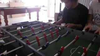 Most Intense Game Of Foosball Ever