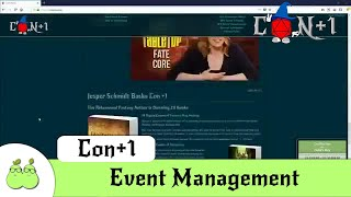 Con +1 - GM Event Management