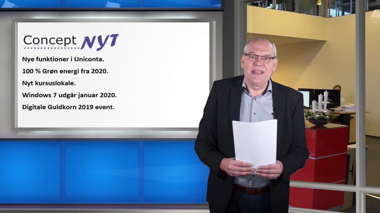 Concept Nyt 2019/04: Nye funktioner i Uniconta - 100 % Grøn energi  - Nyt kursuslokale - Windows 7