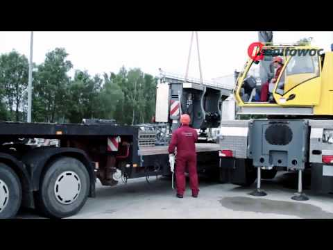 Grove GMK six-axle mobile cranes - Removable outrigger box