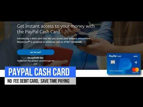 Paypal Cash Card, Cash Plus Account, Fees, Mastercard,Moneypass, Load Cash At 100,000 Stores,Walmart