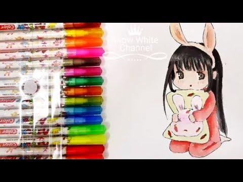 Hướng dẫn vẽ chibi – Cách vẽ và tô màu Chibi dễ thương – How to draw chibi