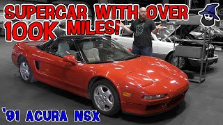 Supercar with over 100K miles! You've got to see this '91 Acura NSX in the CAR WIZARD's shop