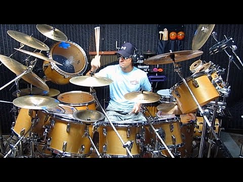 """Gino Vannelli - """"I Just Wanna Stop"""" Drum Cover By Alan Badia On TAMA Superstar Drums"""