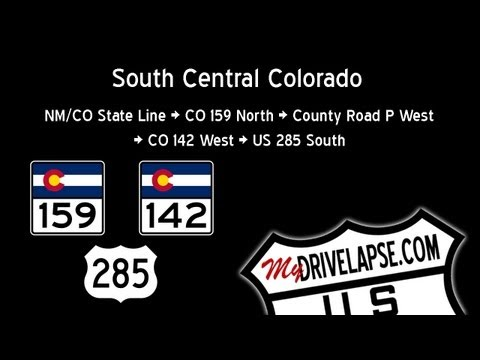 Dashcam Colorado 159, 142, US 285 to Antonito
