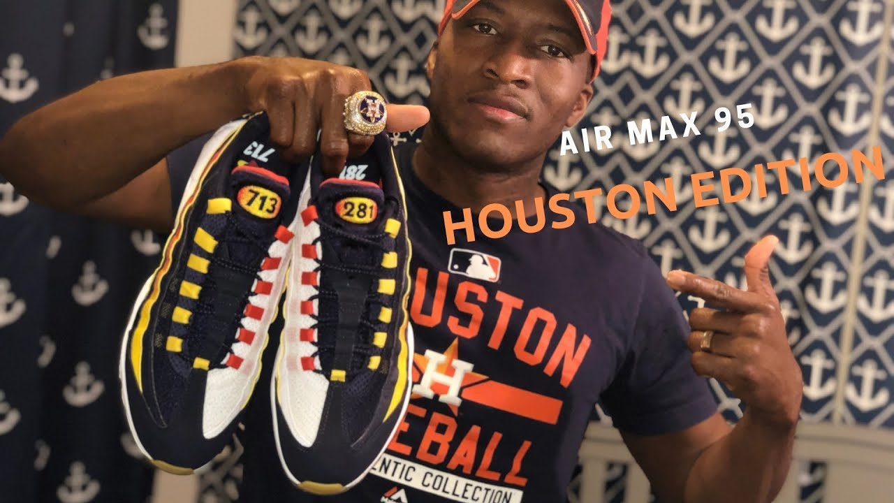 pick up online retailer 100% authentic NIKE EXCLUSIVE!!!Houston Astros Air Max 95