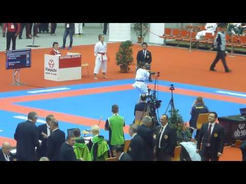 World Championships 2016, kata female. Weininger AUT vs Roman Sol PER