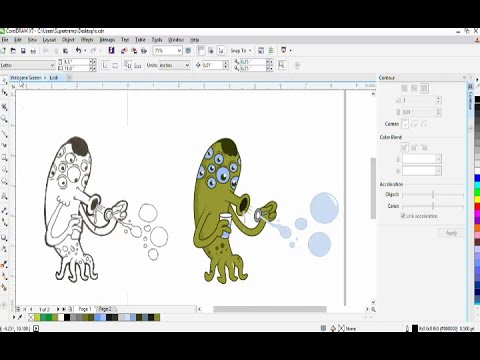 Converting my hand drawing images to vector graphics in coreldraw