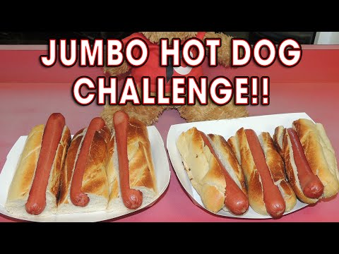 Spike's JUMBO HOT DOG Eating RECORD Challenge!!
