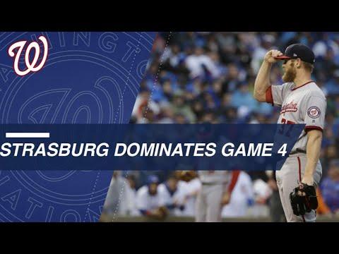 Strasburg dominates Game 4