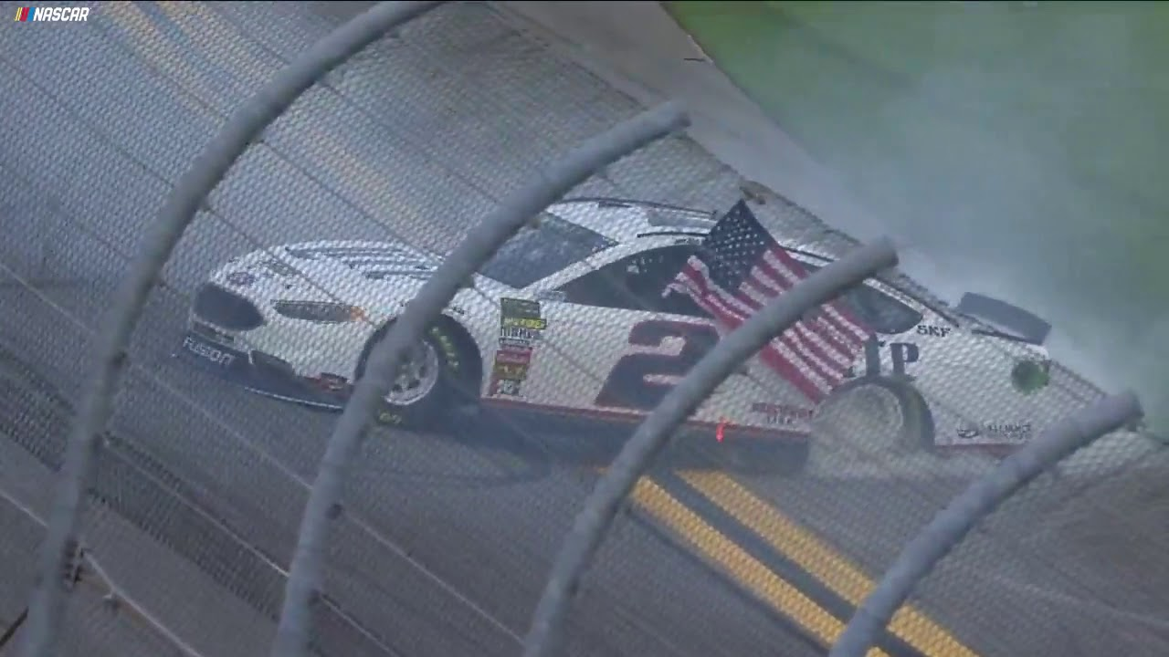 Keselowski does patriotic burnout after winning Clash