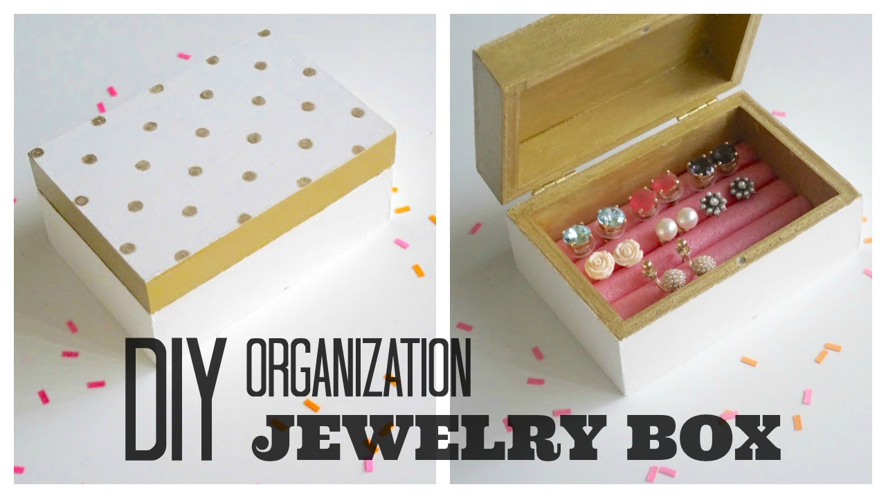 DIY Organization Painted Wooden Jewelry Box YouTube