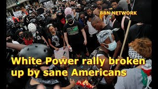 White Power rally broken up by sane Americans